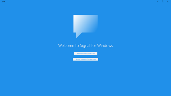 Signal for Windows: Multiple Views and Background Task Blues